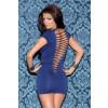 Glitter 32014 Cap Sleeve Mini Dress Shreeded Back Lingerie