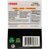 Rush 75 Gold 5 Pills Pack 17000 Male Enhancement Pill Back