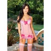 Shirley of Hollywood Bows and Ruffles Chemise with Garters 96284 One Size