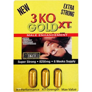 3 KO Gold XT 2750mg 3 Pills Pack Male Sexual Enhancer Old 2500mg