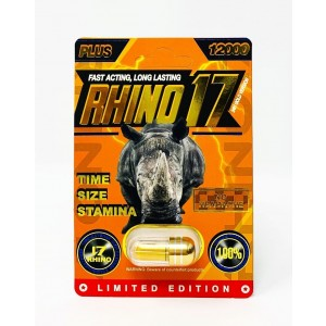 Rhino 17 Plus 12000 Gold Pill Male Enhancement