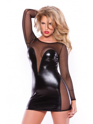 Wetlook Mesh Dress Kitten-Boxed 17-5602K