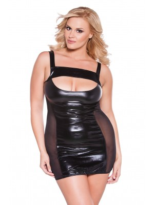 Wet Look Dress Kitten Plus 17-6602XK