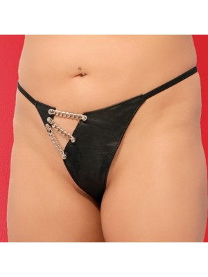 Leather Chain G-String 2-303X