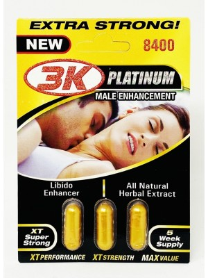 3 KO Gold Platinum 8400mg 3 Pills Male Enhancement
