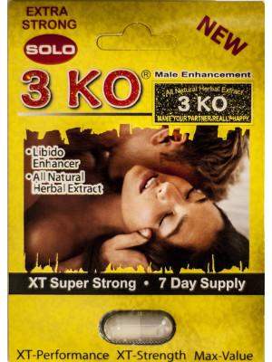 3 KO Solo XT Super Strong Male Libido Enhancer Pill1200 mg