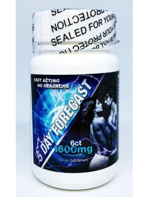 5 Day Forecast 1600mg Dietary Male Supplement 6 Pills Bottle