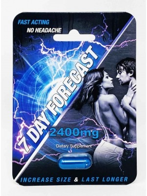 7 Day Forecast 2400mg Male Enhancement Supplement Capsule