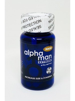 Alpha Man Extreme 3000 Bottle 6 Count Pill Male Sexual Enhancement