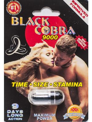 Black Cobra 9000 Maximum Power 9 Days Enahncement for Men 1 Pill