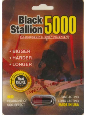 Black Stallion 5000 Male Enhancement Pill 3D Package Up To 7 Days