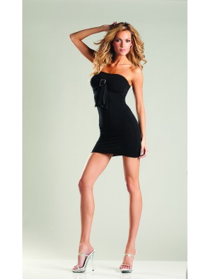 Opaque Tube Dress With Buckle And Bow Be Wicked BWB26 Lingerie