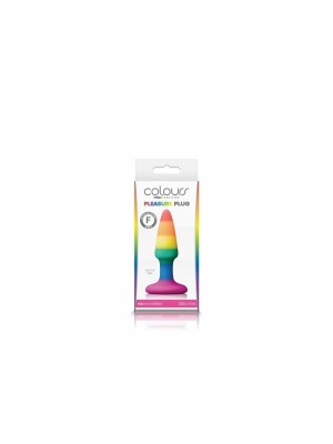 Colours Pride Edition Pleasure Plug Small Rainbow 3.5 inches