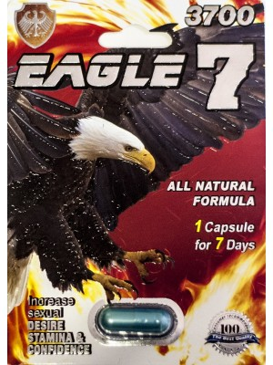 Eagle 7 3700 All Natural Formula Pill 1 Capsule For 7 Days