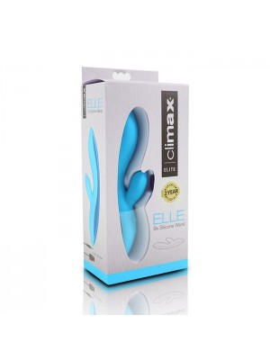 Climax Elle 9x Rechargeable Silicone Wand Vibe Blue