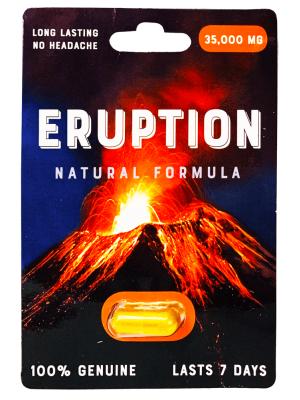 Eruption 35000 mg Natural Formula Gold Male Sexual Enhancement