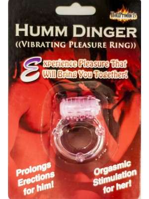 Humm Dinger Penis Vibrating Pleasure Ring With Clitoris Stimulator
