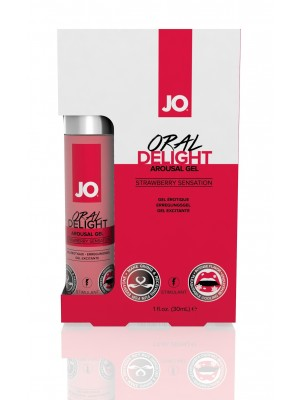 System Jo Oral Delight Arousal Gel Strawberry Pleasure 1 Oz