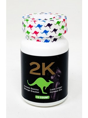 2K Kangaroo Green Male Enhancements 12 Pills Bottle