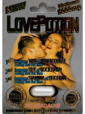 Love Potion Platinum 5000mg Male Sexual Enhancement Pill One