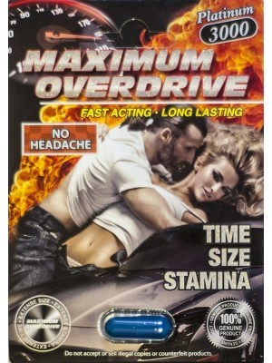 Maximum Overdrive Platinum 3000 Male Enhancer Pill