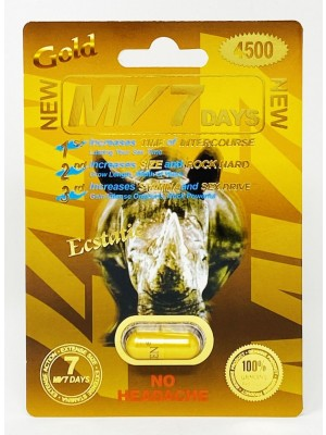 MV 7 Days Gold 4500mg  Male Sexual Enhancement  Capsules