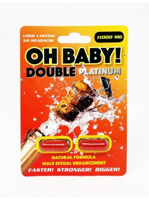 Oh Baby 11000mg Platinum Double Male Enhancement Red Pill