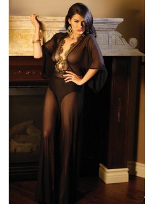 Liz Metallic Lace Caftan Gown Premiere FL1623