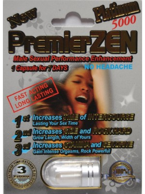 Premier Zen Platinum 5000 Sexual Enhancement Pill 2000mg
