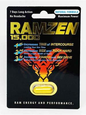 RamZen 15000 Male Enhancement Gold Pills