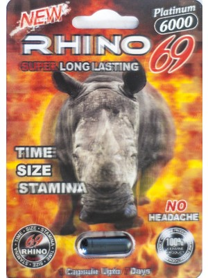 Rhino 69 Platinum 6000 Male Sexual Performance Enhancer 1 Pill