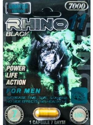Black Rhino 11 7000 Male Sexual Enhancer Pill 7 Days