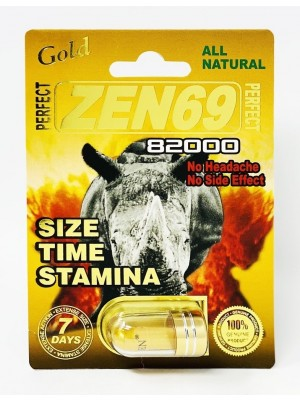 All Natural Perfect Zen69 Gold 82000 Male Enhancement Capsule