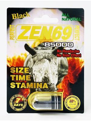 All Natural Perfect Zen69 Black 85000 Male Enhancement Capsule