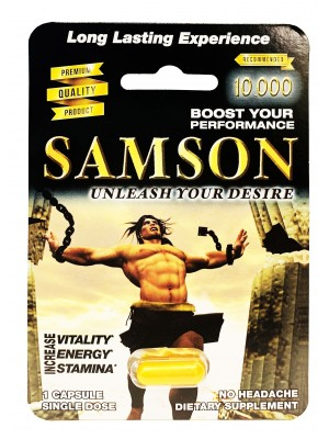 Samson 10000 Male Sexual Enhancement Herbal Gold Pill front