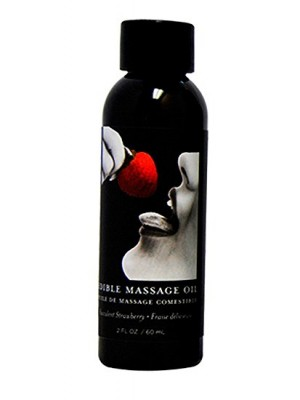 Massage Oil Strawberry Edible 2 oz