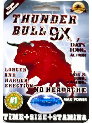 Thunder Bull 9X Triple Maximum Max Power Enhancement Pill for Men