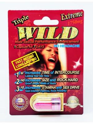 Wild Extreme 1750mg Triple Maximum Sexual Male Enhancement Pill