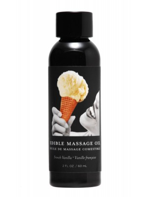 Massage Oil French Vanilla Edible 2 oz