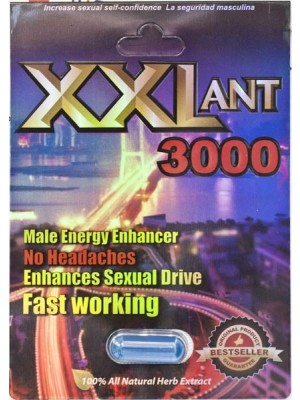 XXL ANT Male Energy Enhancer Fast Working Sexual Enhancement Pill 3000 by MSH Distribution