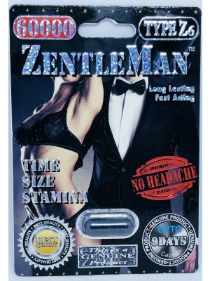 ZentleMan 60000 Pill Black Genuine Male Sexual Enhancer