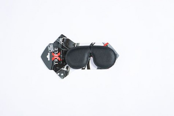 Leather Padded Mask Triple X 12004