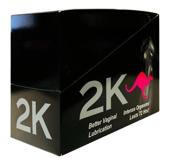 2K Kangaroo Pink Pill Female Enhancements Double Pack Box
