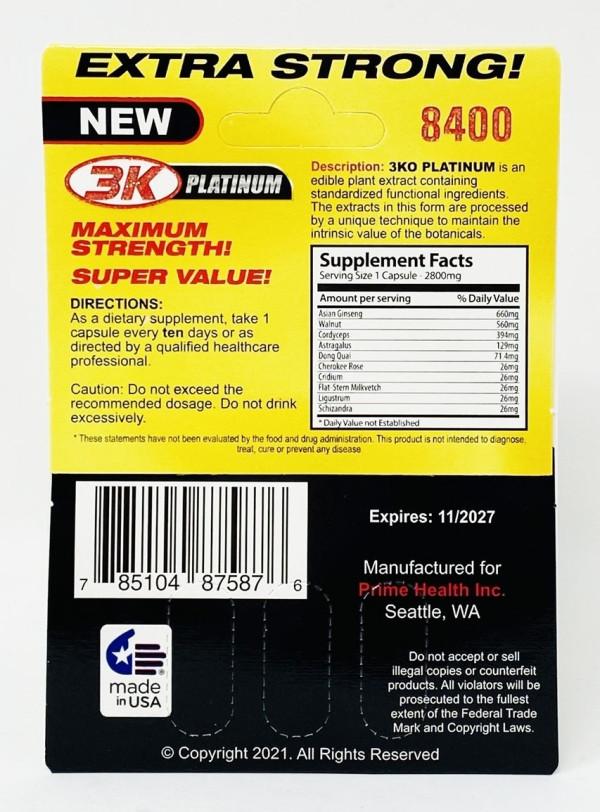 3 KO Gold Platinum 8400mg 3 Pills