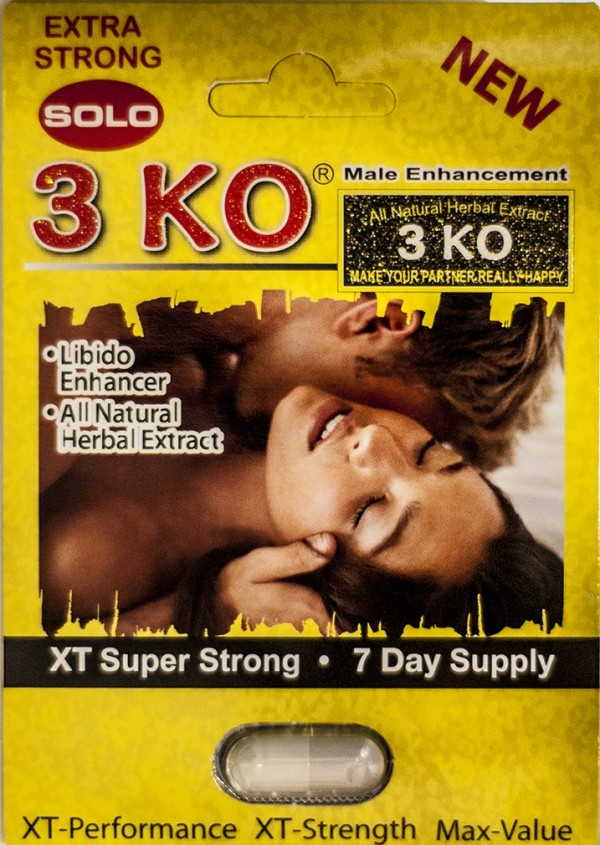 3 KO Solo XT Super Strong Male Libido Enhancer Pill1200 mg