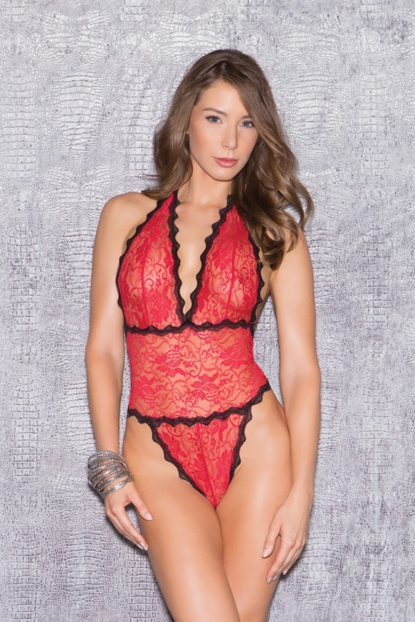 Glitter 35014 Floral Lace Teddy Lingerie