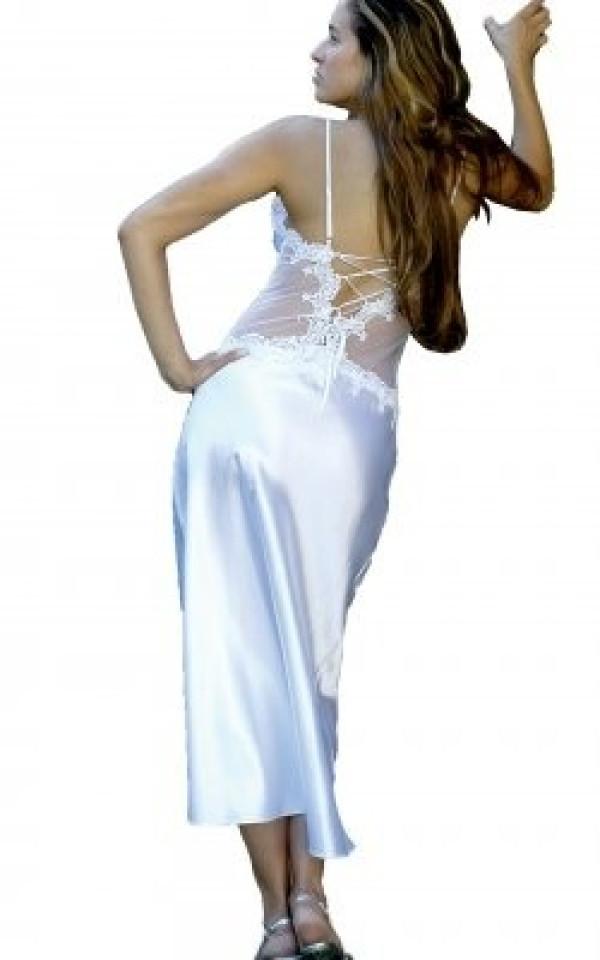 Charmeuse Gown 6074 White