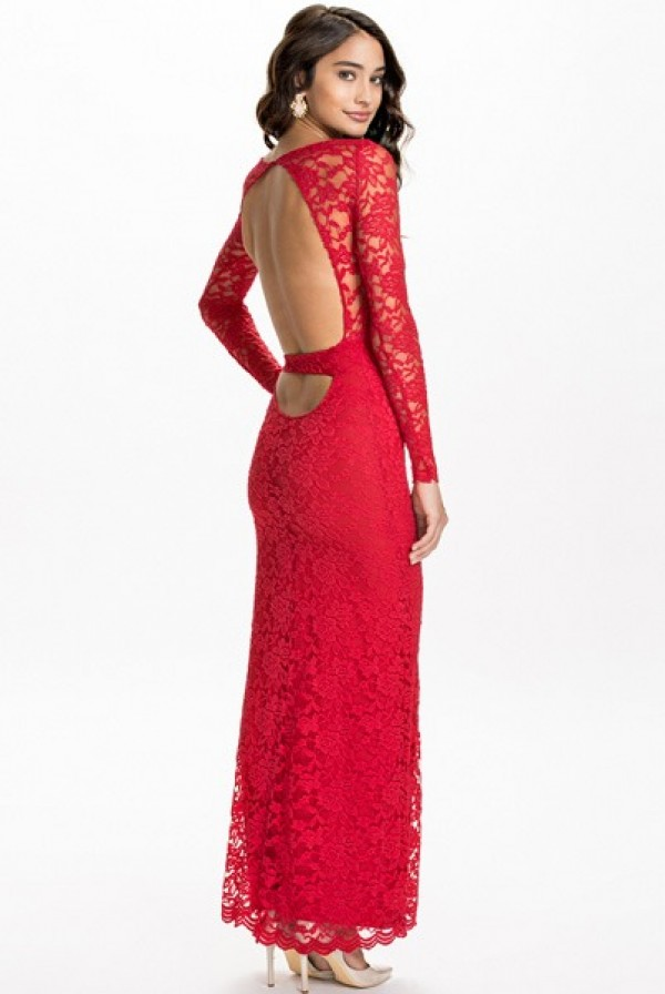 Sexy Women's Long Sleeve Red Lace Maxi Backless Party Dress 9262 Lingerie Sexy Women's Long Sleeve Red Lace Maxi Backless Party Dress 9262 Lingerie