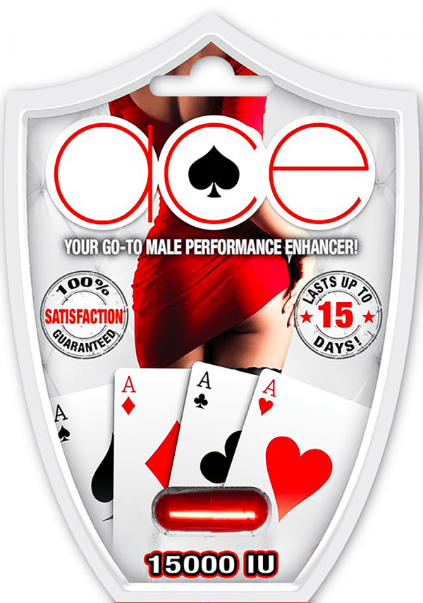 ACE 15000IU Your Go To Male Performance Enhancer Blue Pills front