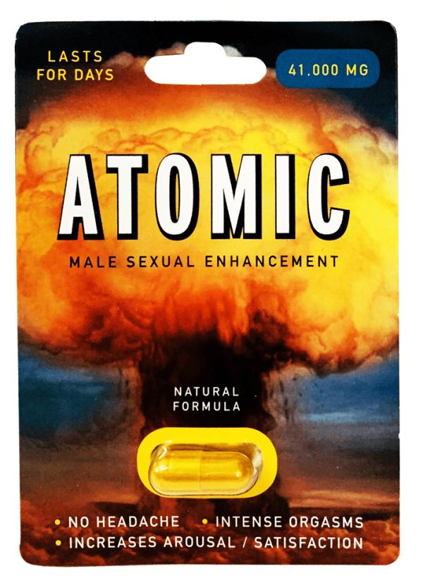 Atomic 41000 mg Natural Formula Male Sexual Enhancement Gold
